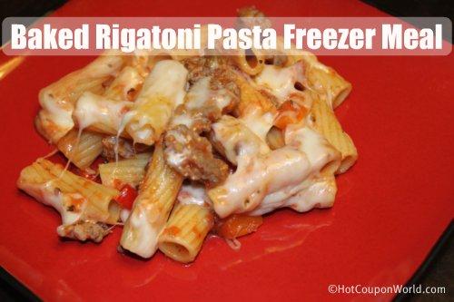 Baked Rigatoni Pasta Freezer Meal