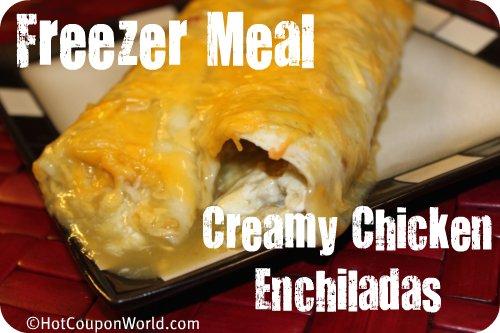 Freezer Meal - Creamy Chicken Enchiladas