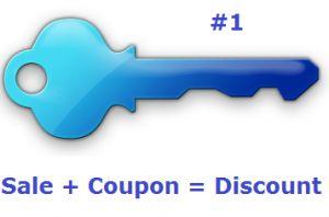 6 Keys To Couponing: Key #1 - Sale + Coupon = Discount (via HotCouponWorld.com)