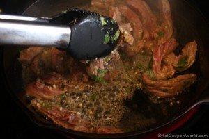 Beef Fajitas - Cook Beef
