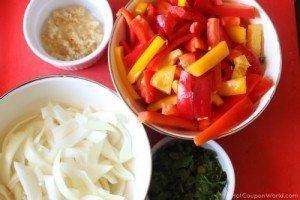 Beef Fajitas - Veggies