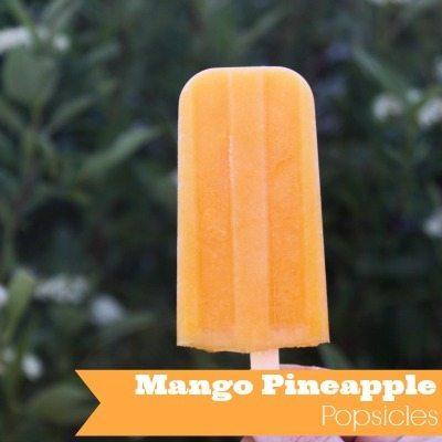 Mango Pineapple Popsicles