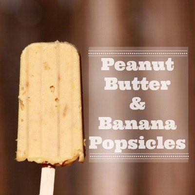 Peanut Butter & Banana Popsicles