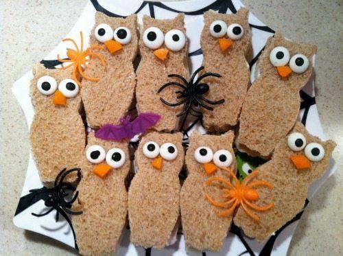 Owl Sandwich Cutouts