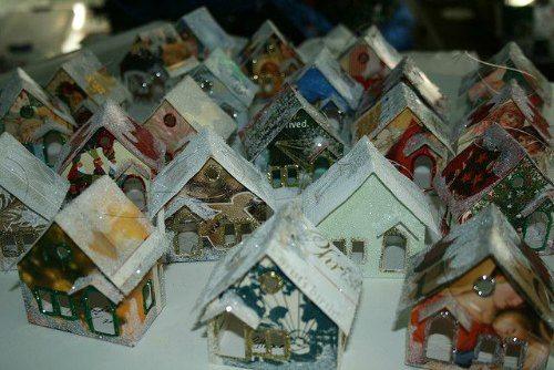 Christmas Card Houses