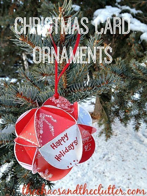 Christmas Card Ornament