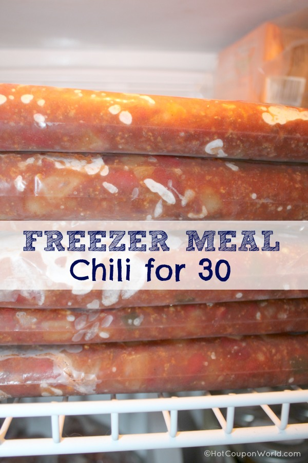Freezer Meal Chili For 30 | via HotCouponWorld.com