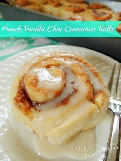 French Vanilla Chai Cinnamon Rolls