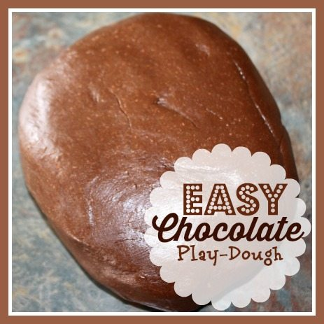 Easy Chocolate Play Dough