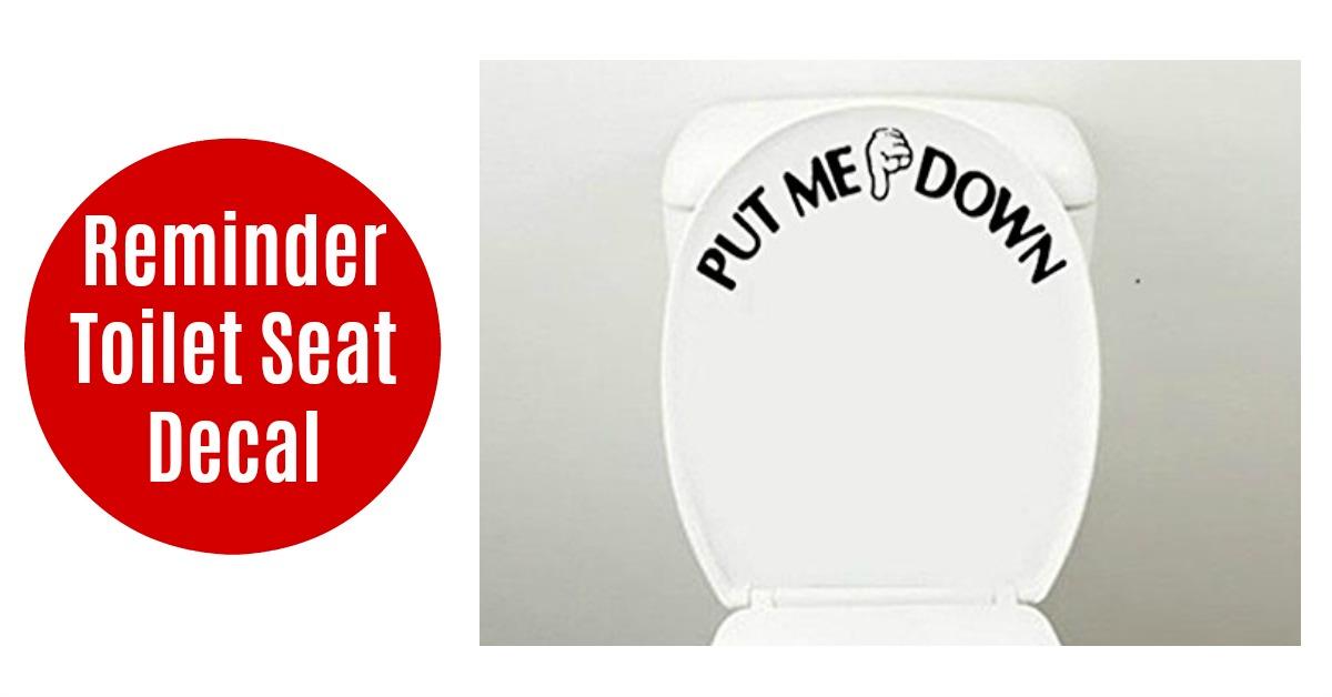 Funny Put Me Down Toilet Seat Decal on Amazon