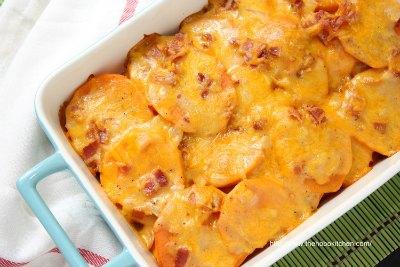 Sweet Potato Gratin with Bacon