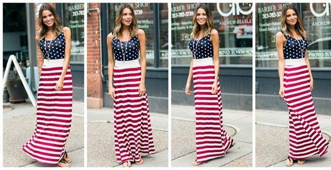 b452780b26d Women s 4th of July Maxi Dress - as low as  7.99