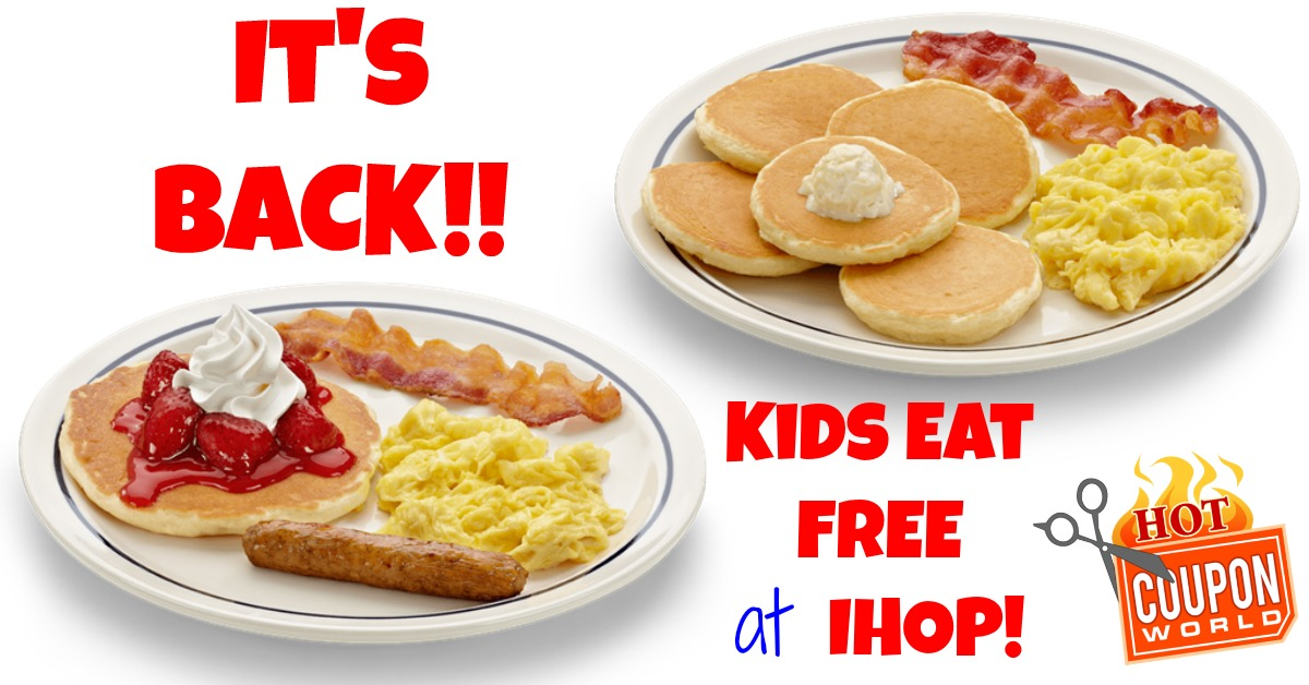 image about Printable Ihop Coupon identify IHOP Children Try to eat Cost-free 2019 - (This Package deal is Again)- Children Take in Totally free