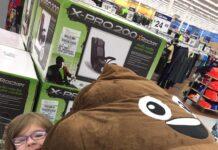 poop Emoji bean bag Chair at Walmart
