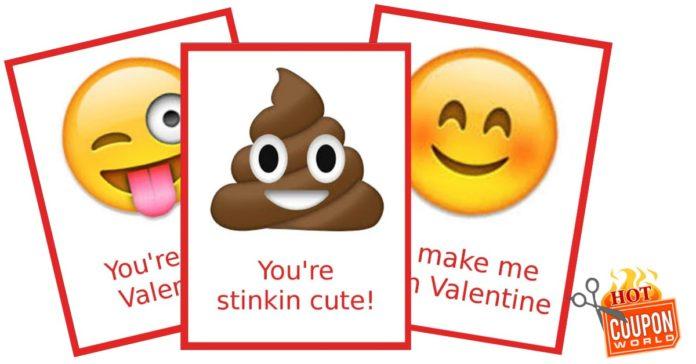Free Printable Emoji Valentine S Cards