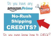 Check your Amazon No Rush Shipping Credits