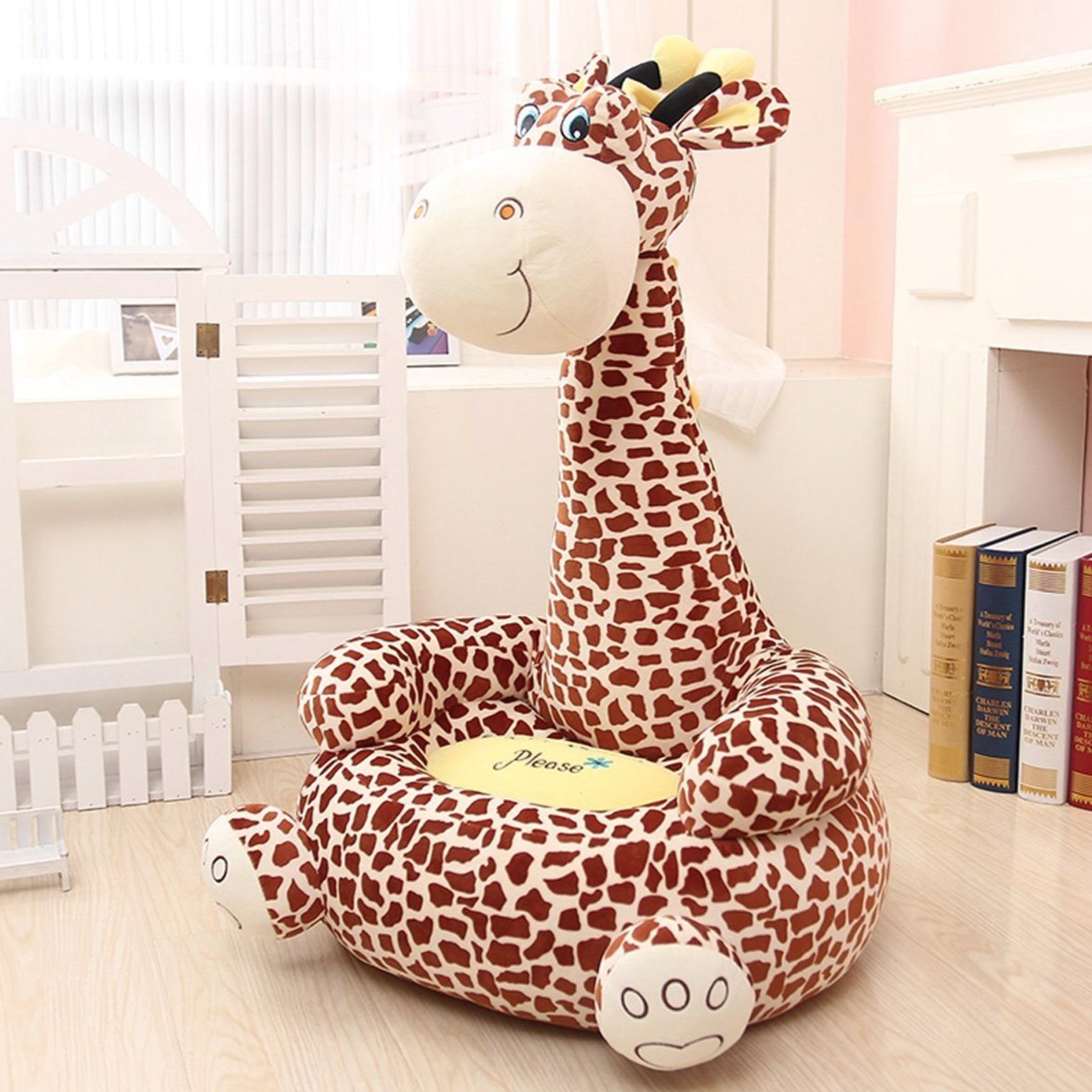 Plush Animal Bean Bag Chair For Children Giraffe Monkey