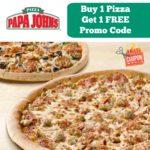 B1G1 FREE Papa Johns Promo Code