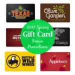 Spring 2017 Gift Card Bonus Promotions List