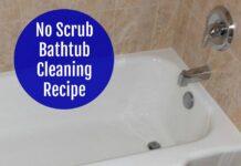 Bathtub Cleaning Recipe No Scrub