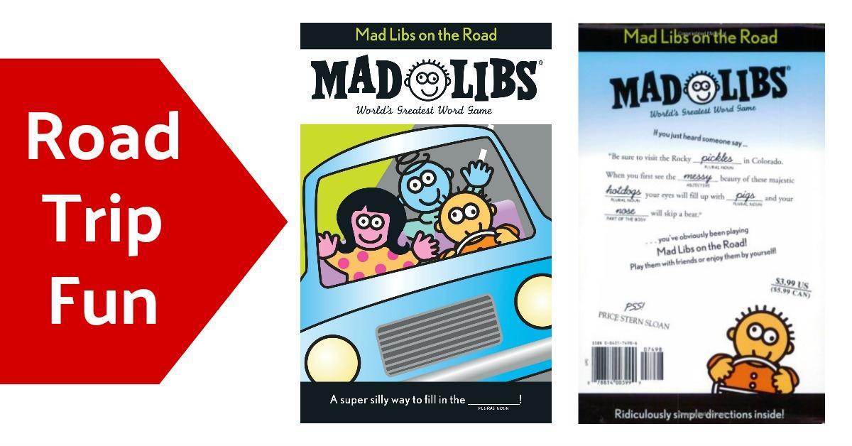 Mad Libs Road Trip Fun