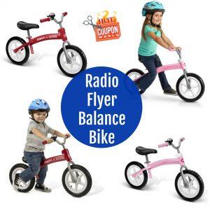 Radio Flyer Glide N Go Balance Bike With Air Tires Deal