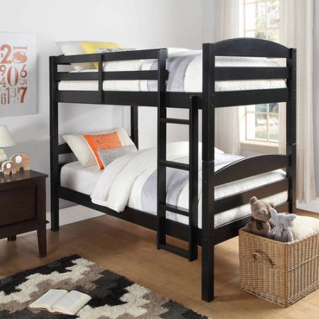 Twin Over Twin Wood Bunk Bed 2 Mattresses Crazy Deal