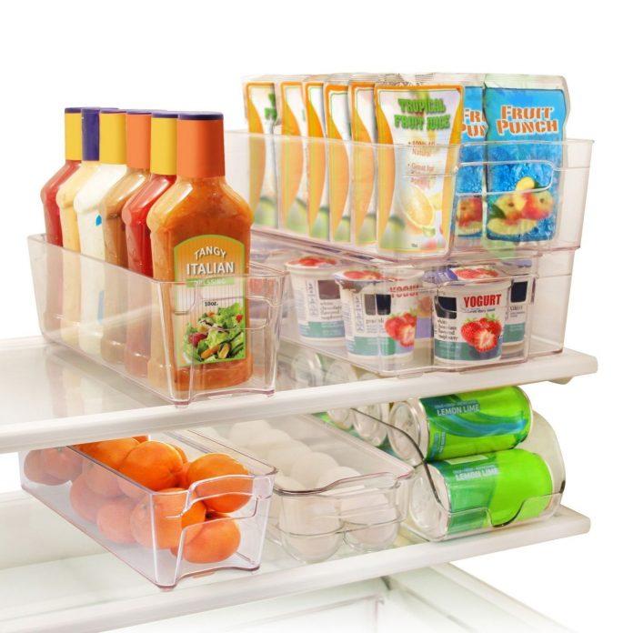Refrigerator and Freezer Stackable Storage Organizer Bins