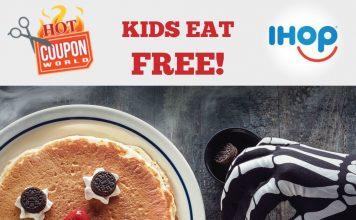 Kids Eat Free at IHOP Deal Halloween