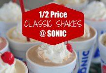 Half Price Sonic Shakes Day