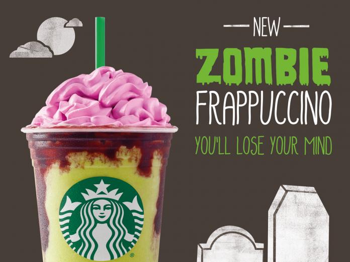 Zombie Starbucks Frappuccino Halloween Deal