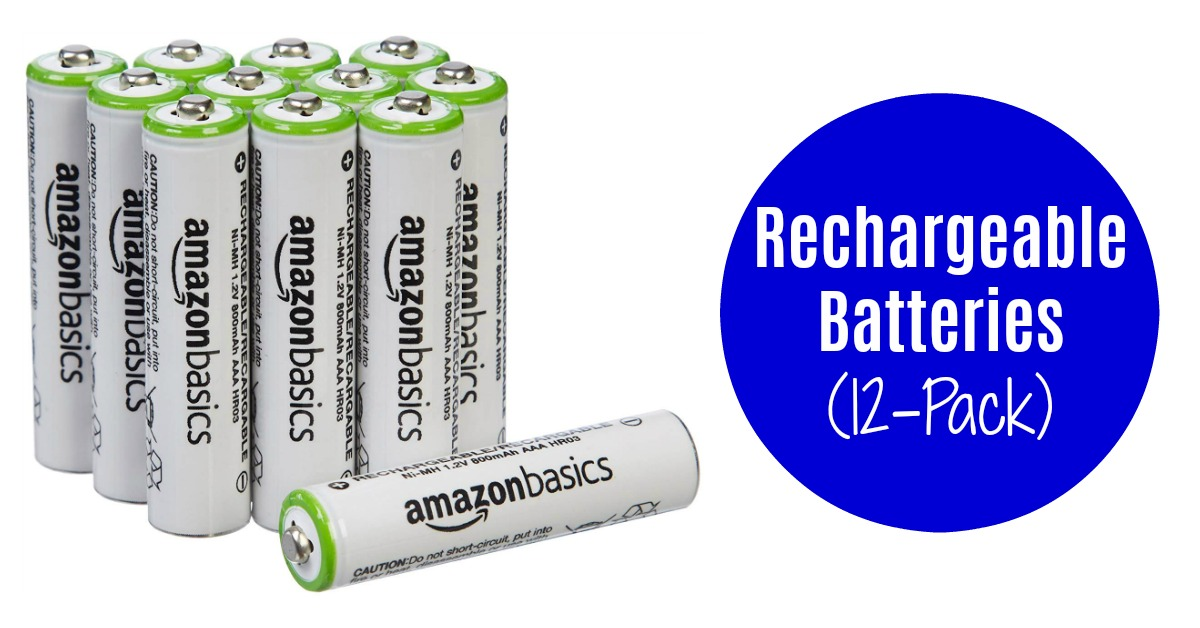 AmazonBasics AAA Rechargeable Batteries (12-Pack) on Amazon