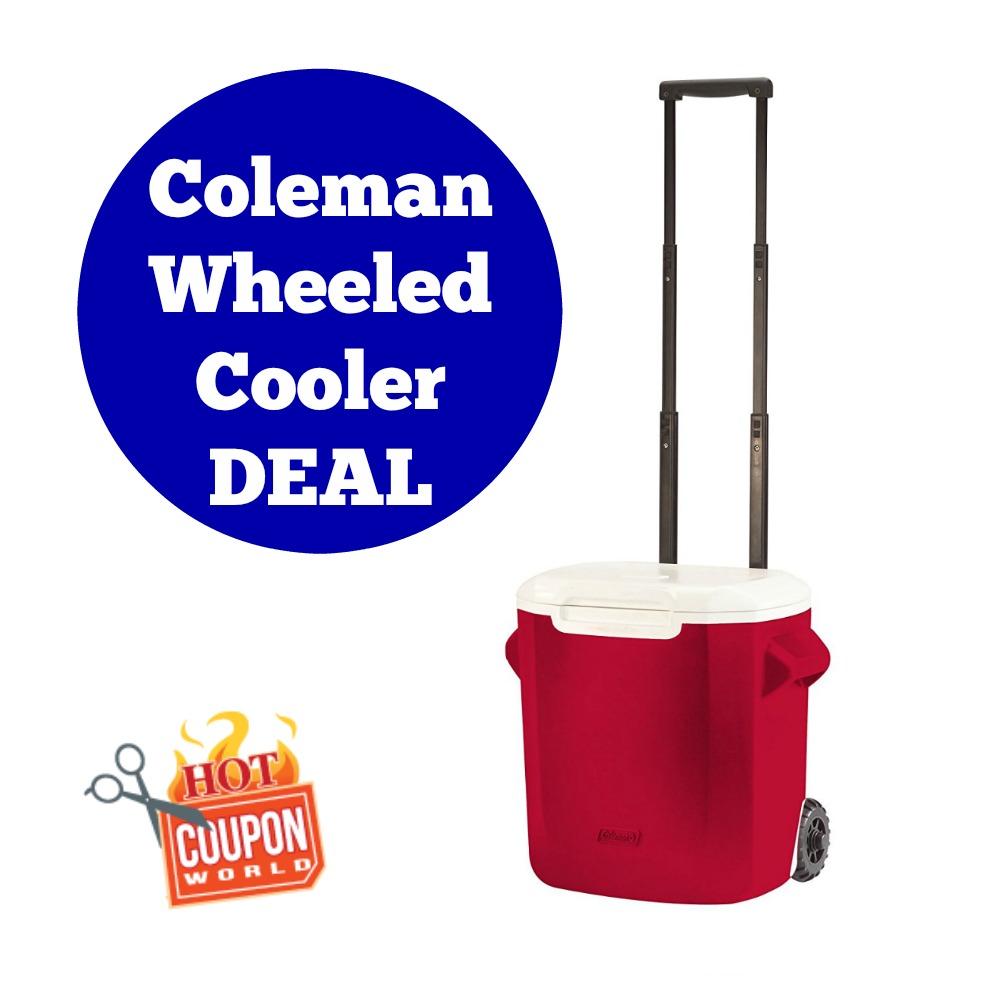 Coleman Wheeled Cooler on Amazon
