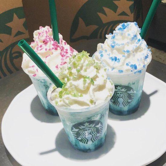 Crystal Ball Frappuccino at Starbucks