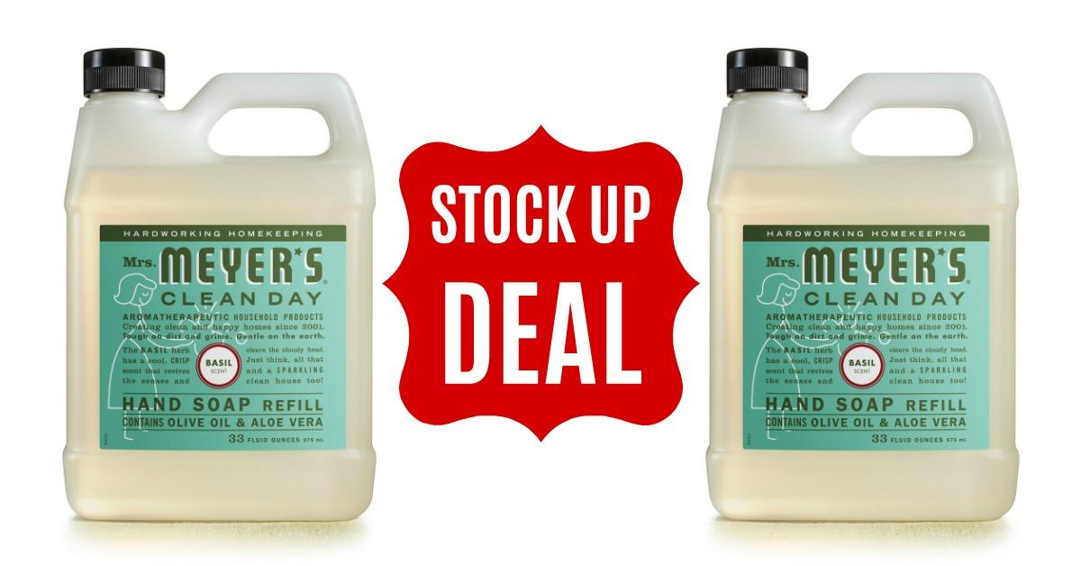 Mrs. Meyers Liquid Hand Soap Refill on Amazon