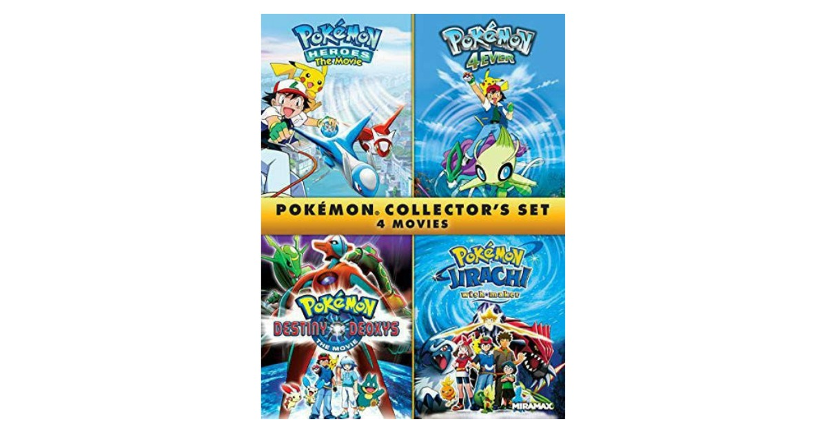 Pokémon Collectors 4-Film Set on Amazon