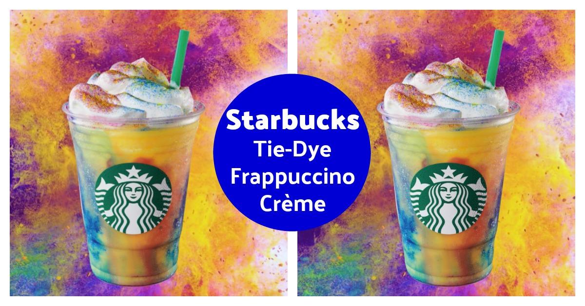 tie dye Frappuccino at Starbucks