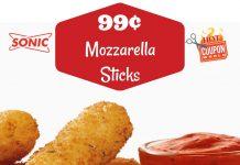 Fried Mozzarella Sticks Deal at Sonic