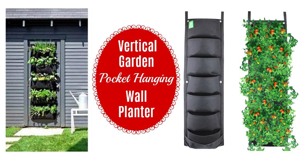 diy vertical garden pocket planter