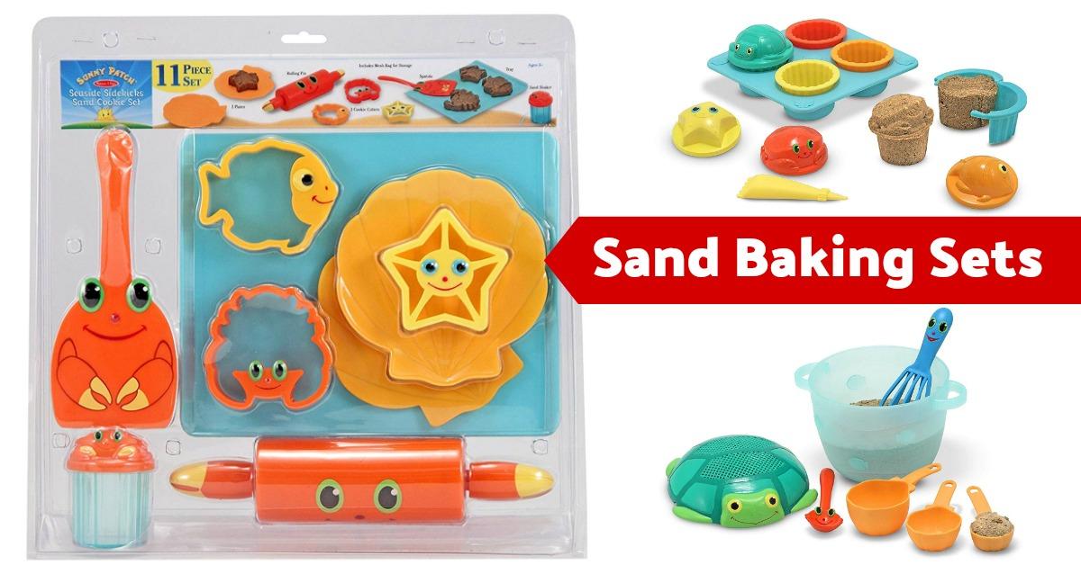 Melissa & Doug Sunny Patch Seaside Sidekicks Sand Baking Play Sets on Amazon