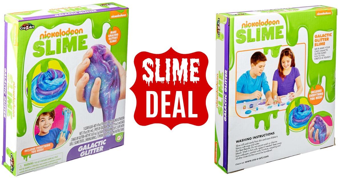 Slime Deal! Nickelodeon Cra-Z-Slime Galactic Glitter Box Kit