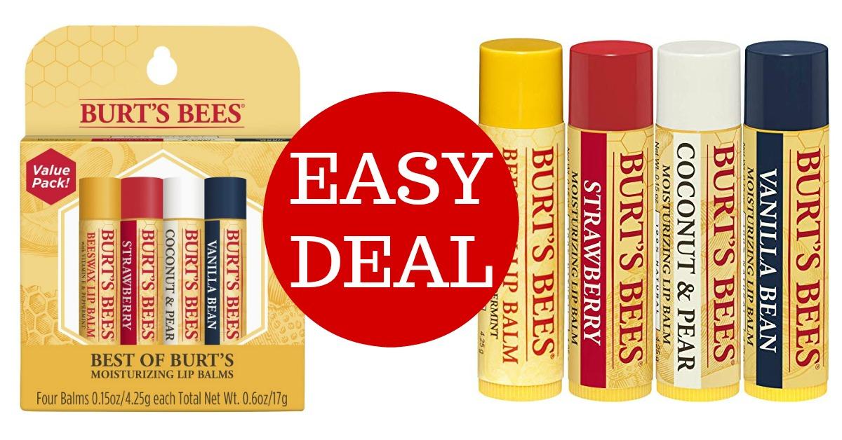 Burt's Bees 100% Natural Moisturizing Lip Balm on Amazon