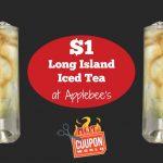 Dollar Long Island Iced Tea Deal at Applebees