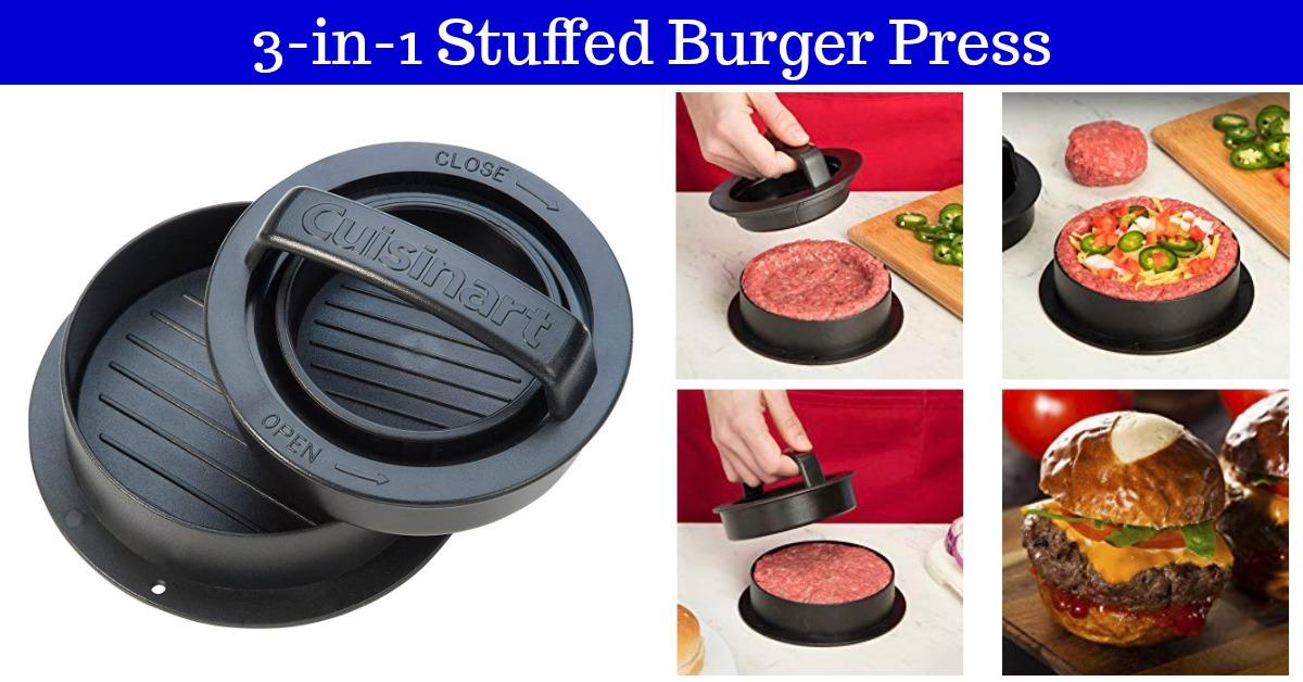 Cuisinart 3-in-1 Stuffed Burger Press on Amazon