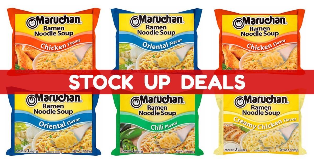 Amazon Maruchan Flavor Ramen Noodles, Oriental (Pack of 24) Stock Up Deal! on Amazon
