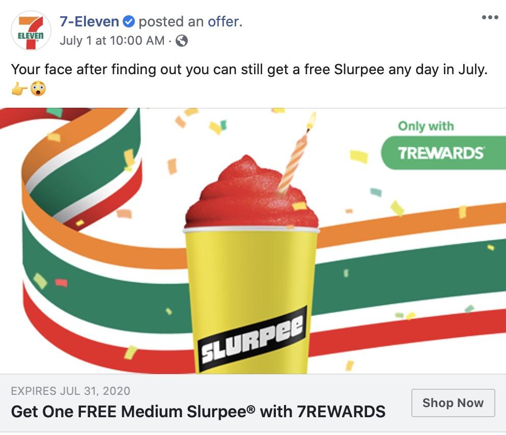 free Slurpee day 2020 7-eleven