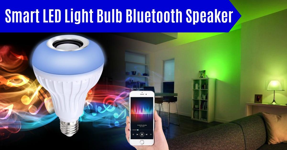 Smart LED Light Bulb Bluetooth Speakers on Amazon