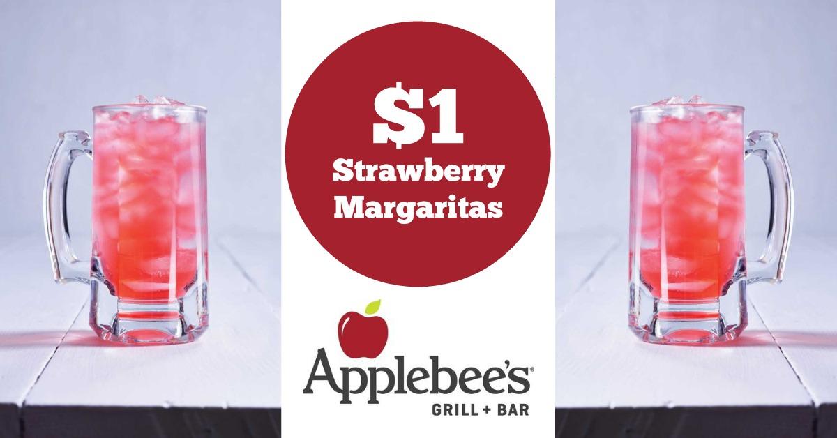 Strawberry Dollar Margaritas Deal at Applebee's