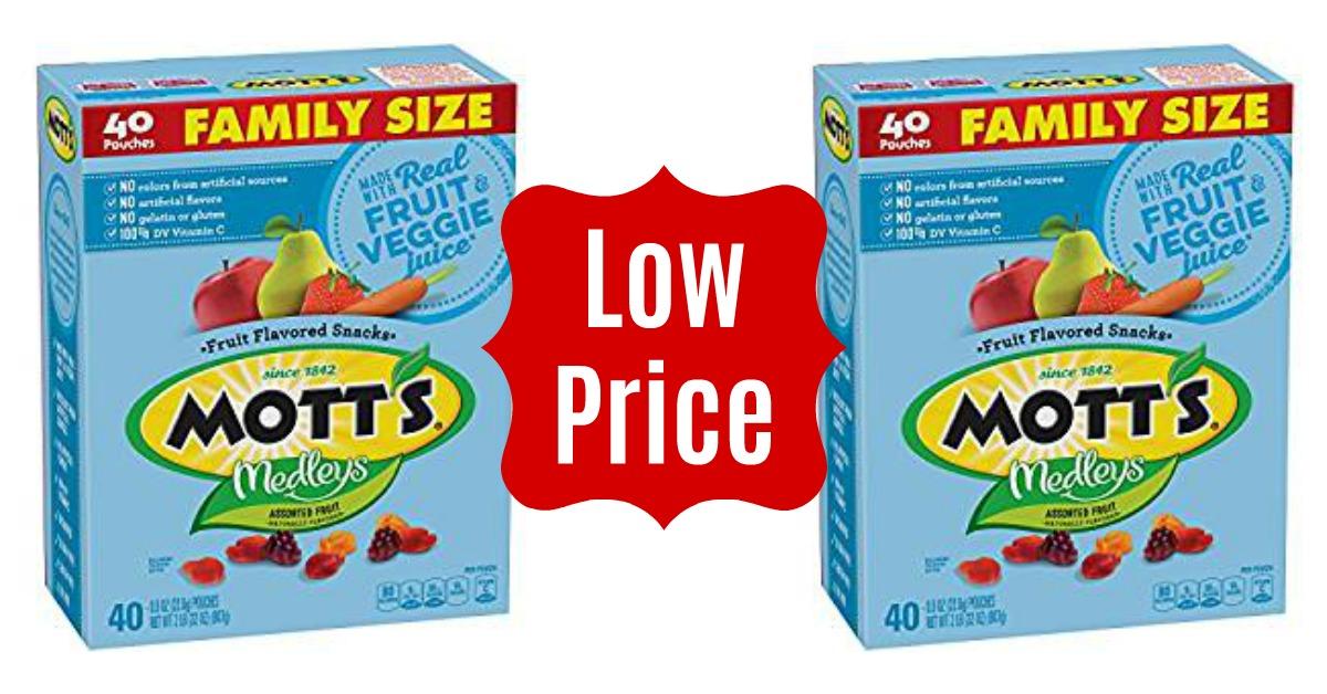 Motts Medleys Fruit Snacks on Amazon