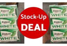 trident white sugarfree gum on Amazon